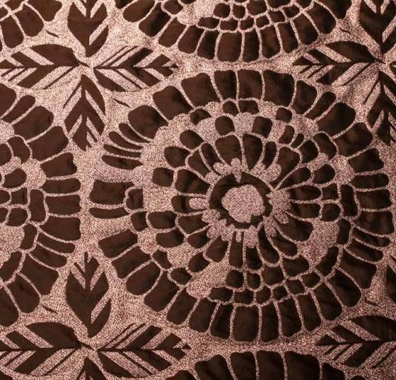 d7cfc24ed0b Polyester Metallic Lurex Fabric - Pink/Brown