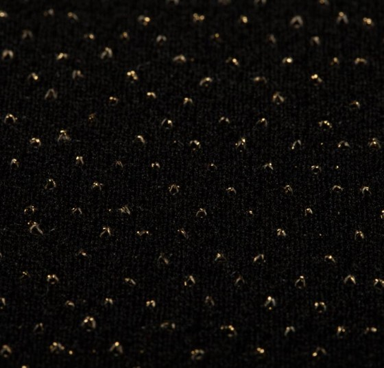 Polyamide Metallic (LUREX) Black/Gold Fabric