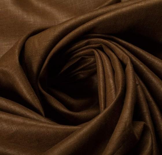 Cotton Linen Chintz Finish Golden Brown Fabric