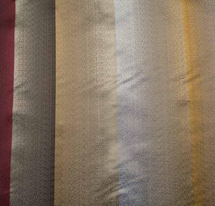 100 Silk Multicolour Ombre Stripes