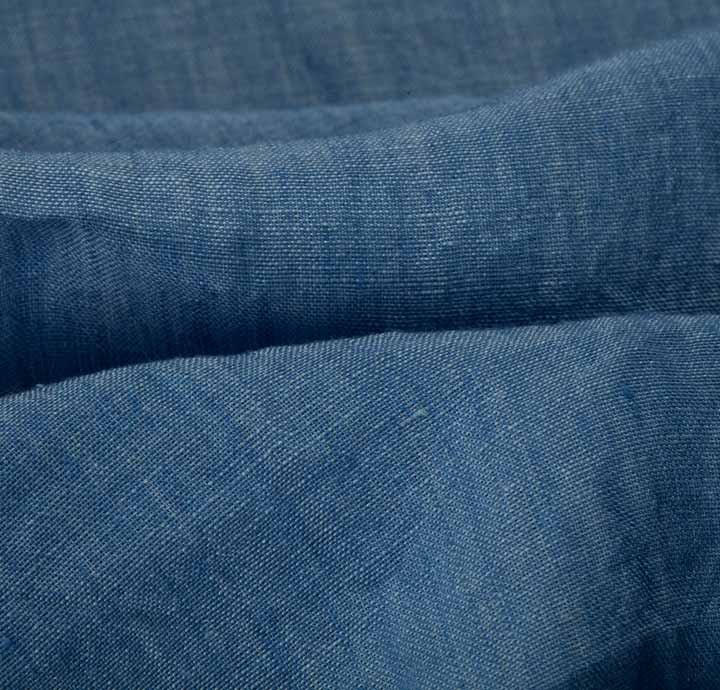 100 Linen Blue Fabric Sold As 1 5m Piece