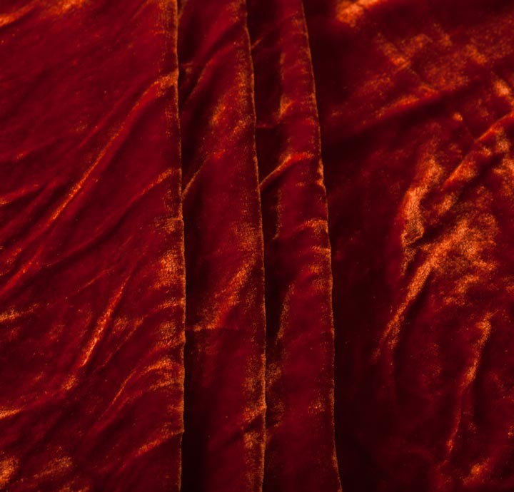 Silk Velvet Orange Fabric