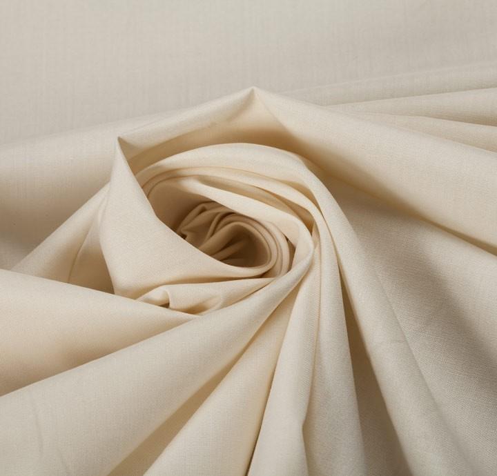 Do Not Tumble Dry >> Cotton Poplin Off-White Fabric