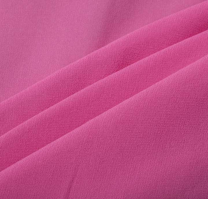 Viscose georgette pink fabric