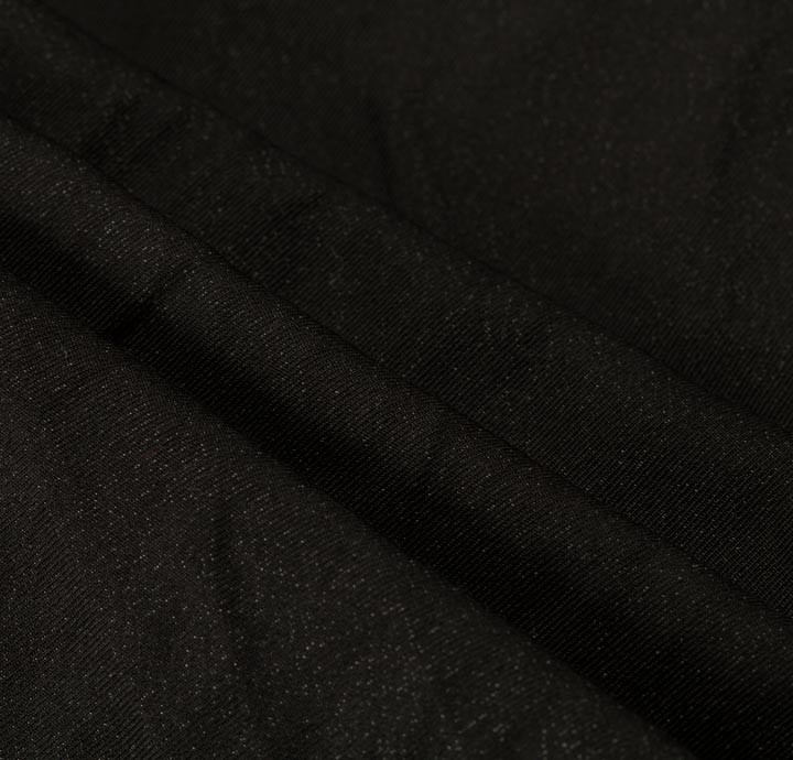 Solbiati - 100% Cotton/Metallic Black Fabric