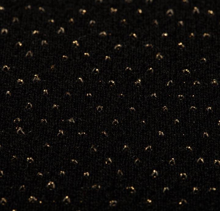 95% Polyamide/ 3% Metallic (LUREX) Black/Gold Fabric ...