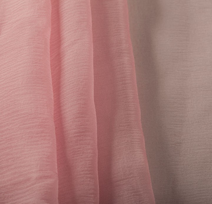100 silk chiffon pink fabric silk fabric for Fabric material for sale