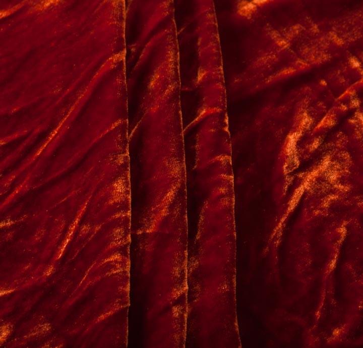 silk velvet orange fabric fabric. Black Bedroom Furniture Sets. Home Design Ideas